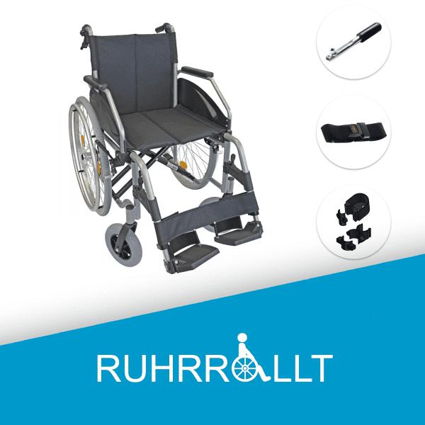 Rollstuhl Gurt Stockhalter Bremse in einem |< Ruhrrollt